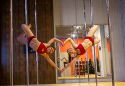 pole dance doubles